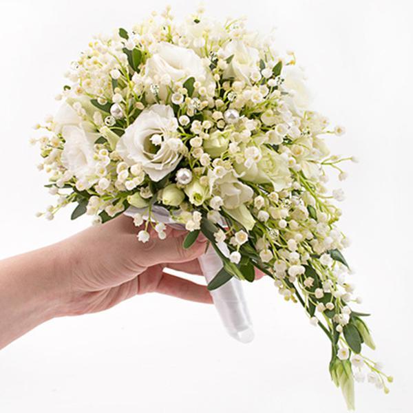 Букеты невесты ландыши и розы фото, 6000