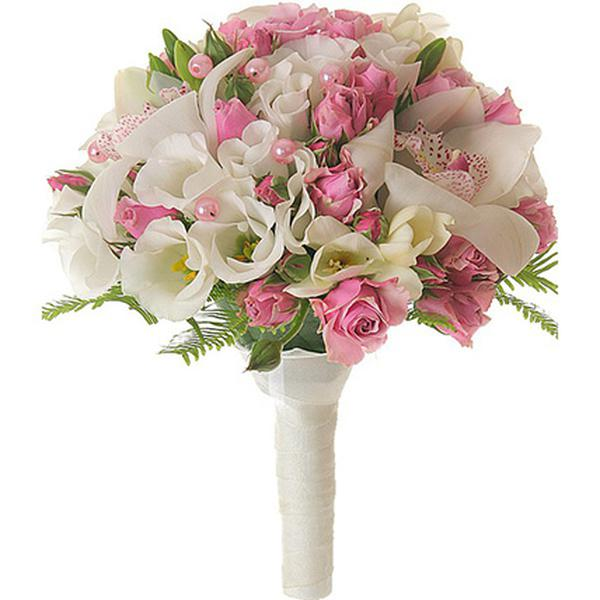 Свадебный букет из роз и орхидей купить спб
