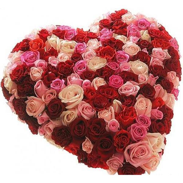 Открытка в форме розы, своими