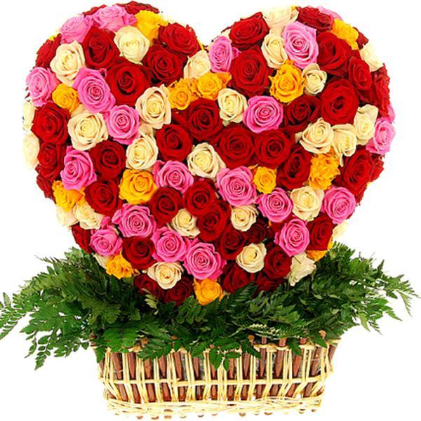 Сердечки из цветы купить спб дешево