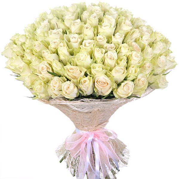 Букеты из белых роз