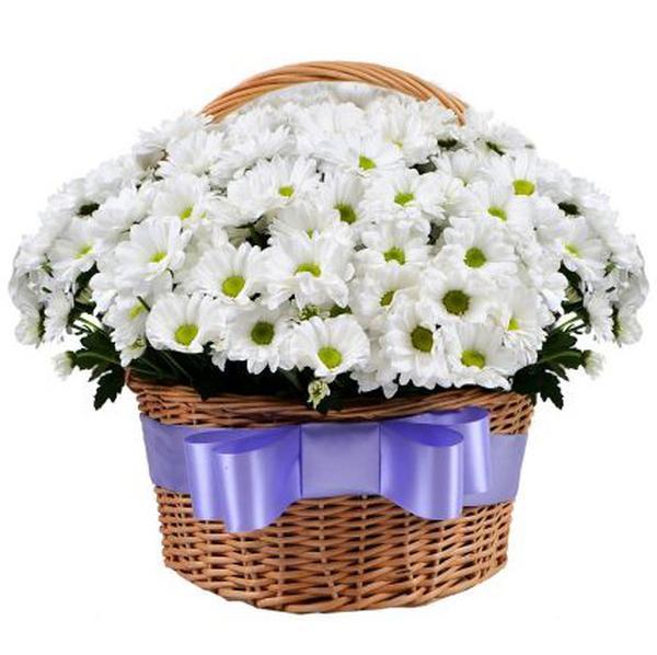 Цветы в корзине купить дешево москва, букет бутонов